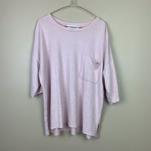 Workshop Republic Clothing Pink Tunic Large Top 45